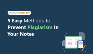 Read more about the article 4 Easy Methods to Prevent Plagiarism in your Notes